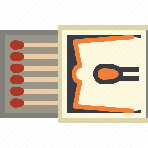 barbecue, cooking, fire, grill, matches, package, yumminky icon