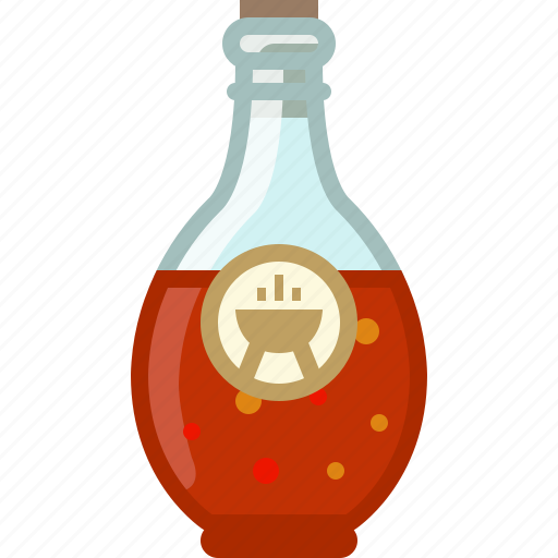 barbecue, bottle, chilli, cooking, grill, sauce, yumminky icon