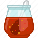 barbecue, chilli, cooking, grill, sauce, spoon, yumminky icon