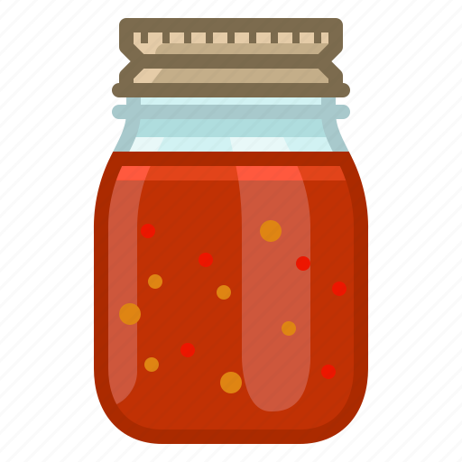 barbecue, chilli, cooking, glass, grill, sauce, yumminky icon