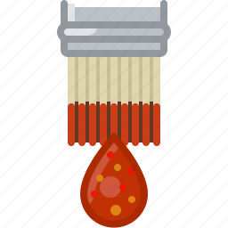 barbecue, brush, chilli, cooking, grill, sauce, yumminky icon
