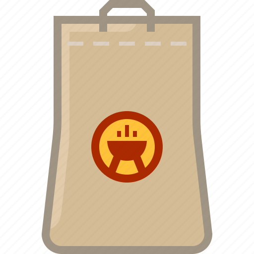 barbecue, briquettes, coal, cooking, grill, package, yumminky icon