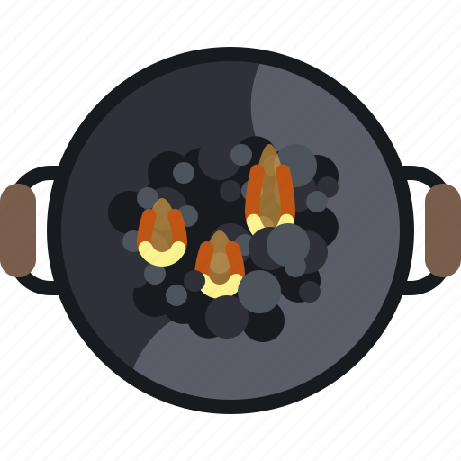 barbecue, briquettes, coal, cooking, flames, grill, yumminky icon