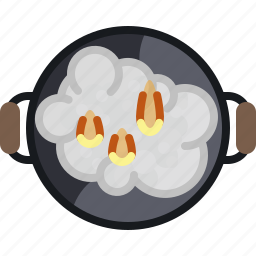 barbecue, cooking, fire, flames, grill, smoke, yumminky icon