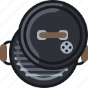 barbecue, cooking, equipment, garden, grill, lid, yumminky icon