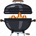 barbecue, burning, cooking, fire, flames, grill icon