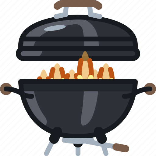 barbecue, burning, cooking, fire, flames, grill, yumminky icon