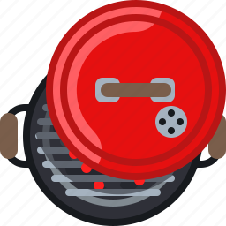 barbecue, cook, cooking, embers, grill, lid, yumminky icon