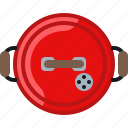 barbecue, cook, cooking, garden, grill, lid icon