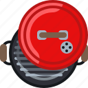 barbecue, cook, cooking, garden, grill, lid, yumminky icon