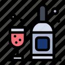 bottle, drink, glass