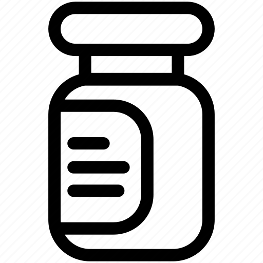 bottle, grocery, jam, product, shopping icon