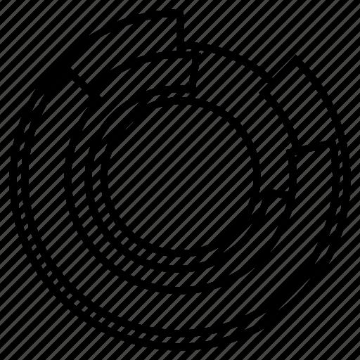 chart, circle, double, graph icon