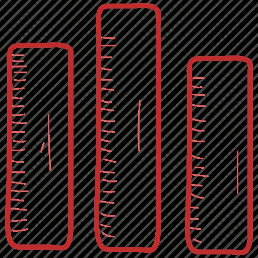 arrow, bar, chart icon