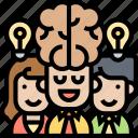 brainstorming, intelligence, teamwork, ideas, creativity