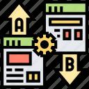 comparison, testing, split, interface, webpage