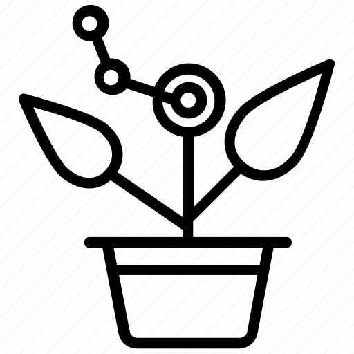 ecology, gardening, nature, plant growth, potted plant icon