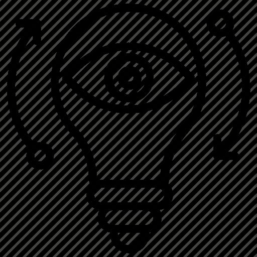 idea visualization, imagination, innovation, monitoring, vision icon