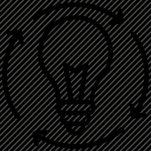 creative idea, idea development, idea generation, innovative idea, smart idea icon