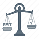 scale, equality, gst, tax, amount, rate, balance icon