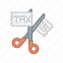 different, equal, gst, no, scissor, tax icon