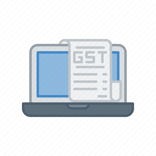 device, electronic, gst, laptop, service, tax icon