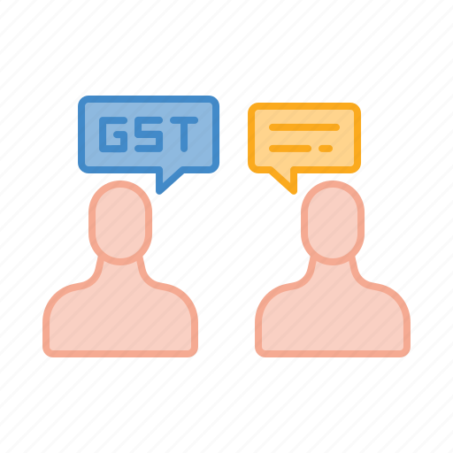 bill, discussion, gst, rate, talk, tax icon