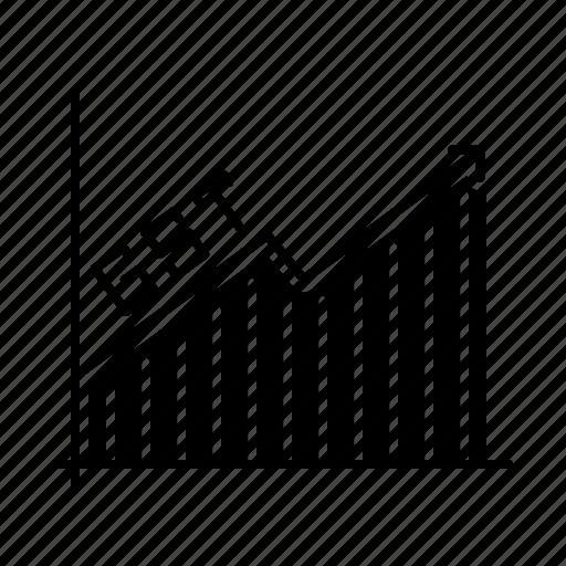 Increase, graph, tax, gst, analysis icon