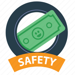 cash, money, protect, protection, safety, saved, security icon