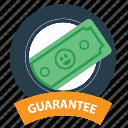 badge, cash, emblem, guarantee, money guarantee, satisfaction, warranty icon