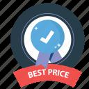 best, best price, emblem, guarantee, prize, satisfaction, warranty icon