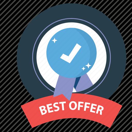 best, best offer, emblem, guarantee, offer, satisfaction, warranty icon