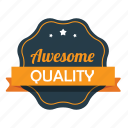 awesome, emblem, guarantee, like, premium, quality, warranty icon
