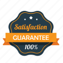 award, emblem, guarantee, guaranteed, hundred percent, satisfaction, warranty icon