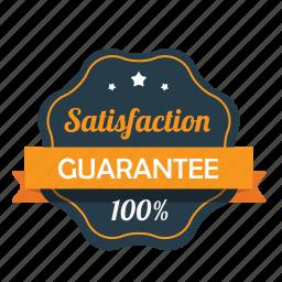 award, emblem, guarantee, guaranteed, hundred percent, satisfaction, warranty icon