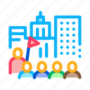 bus, excursions, group, guide, lead, tour, traveler icon
