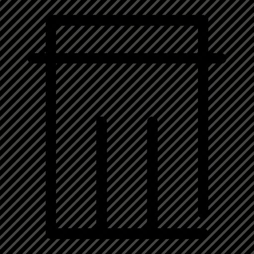 bin, can, cancel, delete, trash icon