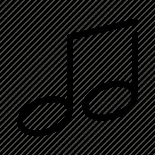 music, note, sound, tune, volume icon
