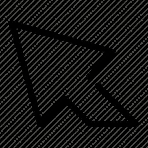 arrow, cursor, direction, mouse, pointer icon