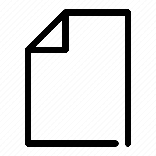 document, empty, letter, new, paper icon