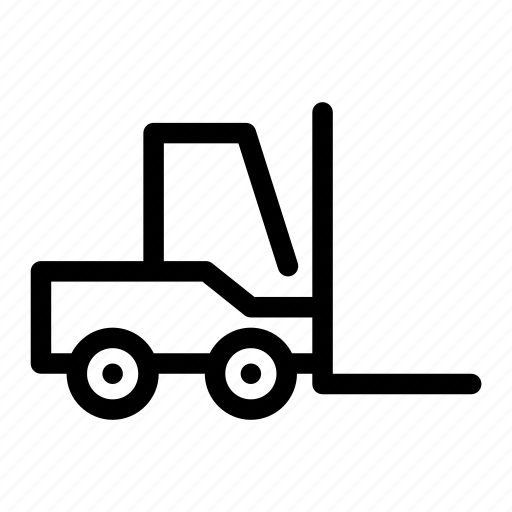 driver, fork, lift, machine, worker icon