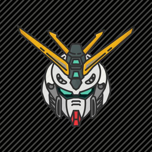 anime, automaton, burning gundam, cartoons, gundam, mecha, robot icon