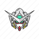 anime, automaton, cartoons, exia, gundam, gundam 00, mecha icon