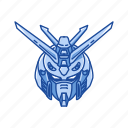 anime, automaton, burning gundam, cartoons, gundam, mecha, robot icon