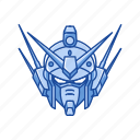 anime, automaton, cartoons, gundam, gundam heavy arms, mecha, robot icon