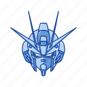 anime, automaton, cartoons, gundam, impulse gundam, mecha, robot icon