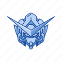 anime, cartoons, exia, gundam, gundam 00, mecha, robot icon