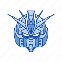 anime, automaton, cartoons, gundam, mecha, robot, zz gundam icon