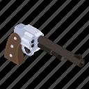 gun, pistol, revolver, weapon, handgun