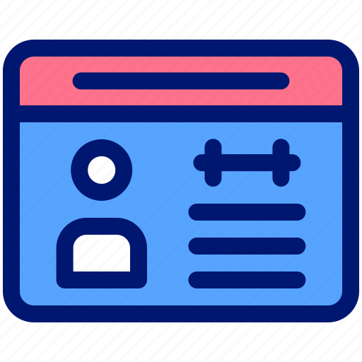 card, fitness, gym, id, member icon
